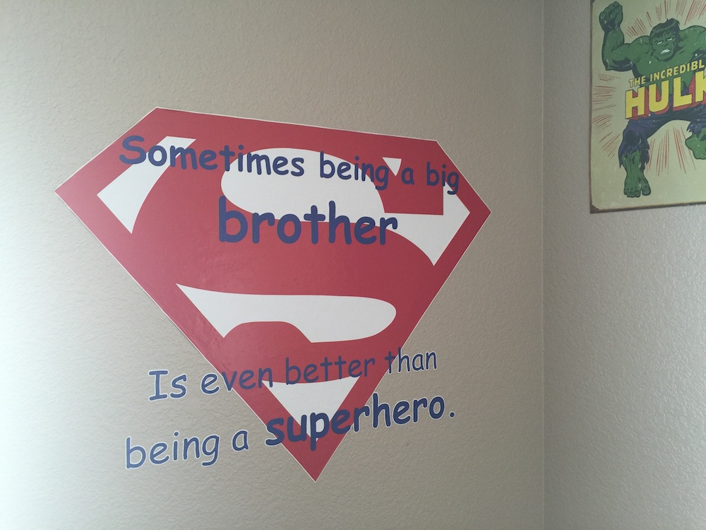 Superman Wall Quote Design One Printing